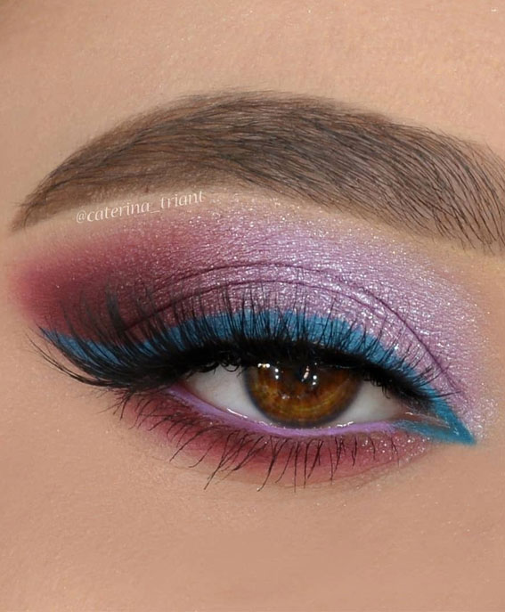 two tone eye makeup look, eye shadow look, eye makeup look, make up ideas , eye shadow makeup look