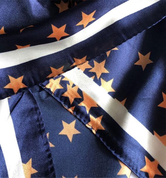 orange and navy blue scarf, silk scarf , silk hair scarf , head scarf, hair scarf silk