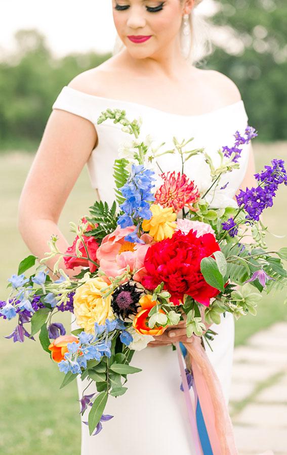 summer wedding bouquet, bridal bouquet, summer bridal bouquet