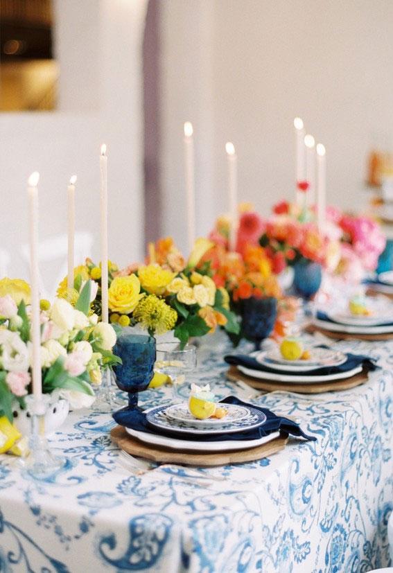citrus wedding reception, citrus wedding ideas