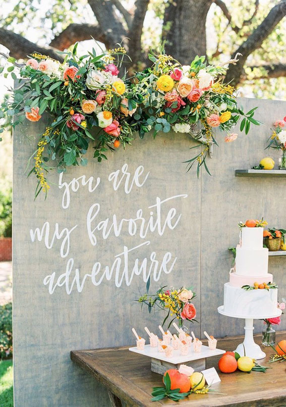wedding cake table , wedding backdrop, wedding decor, summer wedding , wedding cake table display