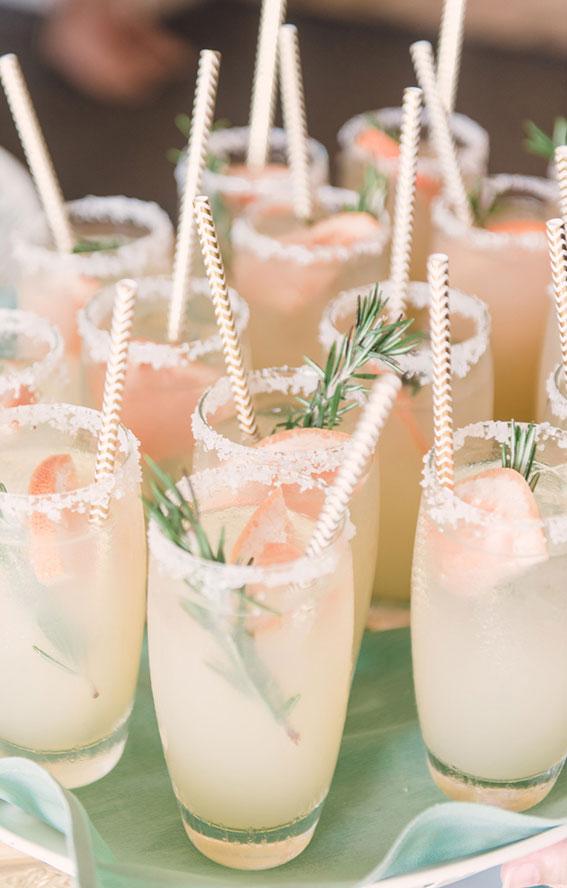 summer wedding drink ideas, summer wedding ideas, wedding ideas, colorful wedding ideas