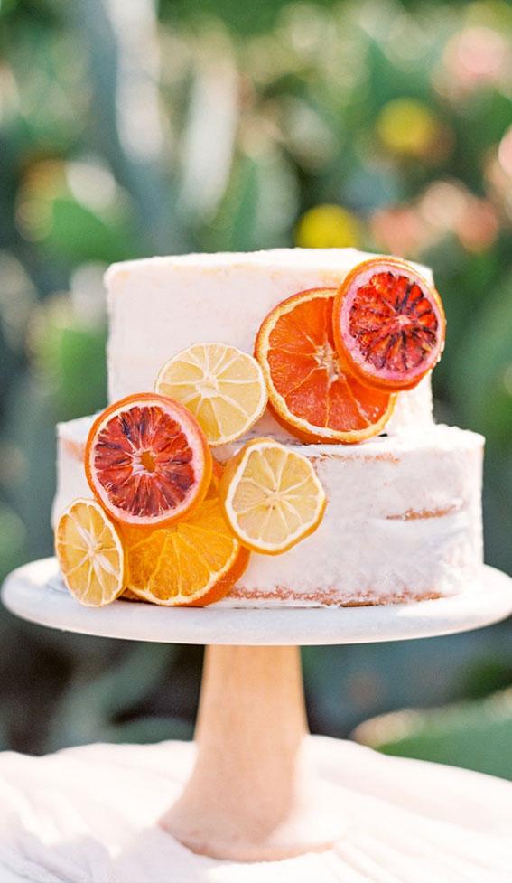 citrus wedding cake, wedding cake, summer wedding cake
