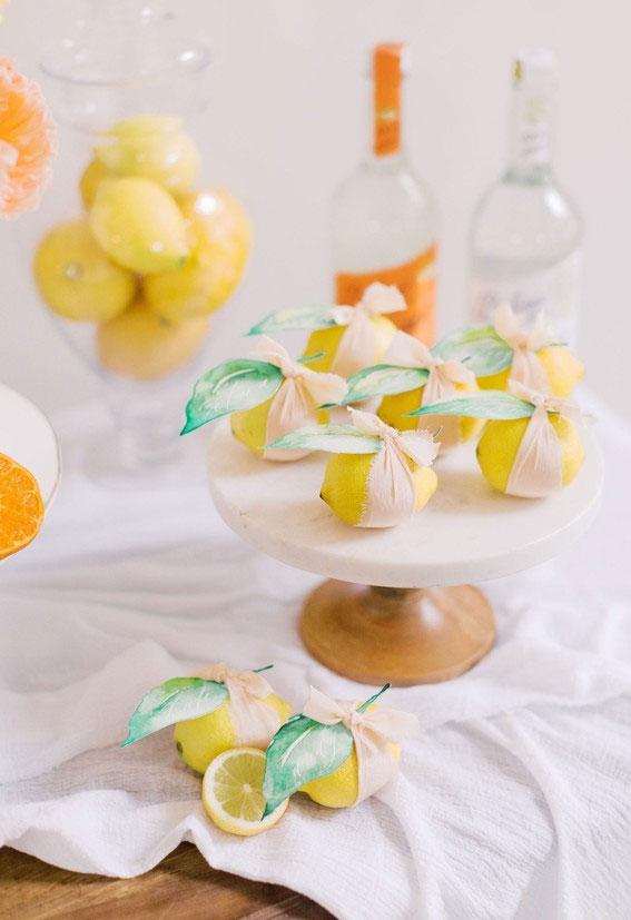 citrus wedding favor, summer wedding ideas