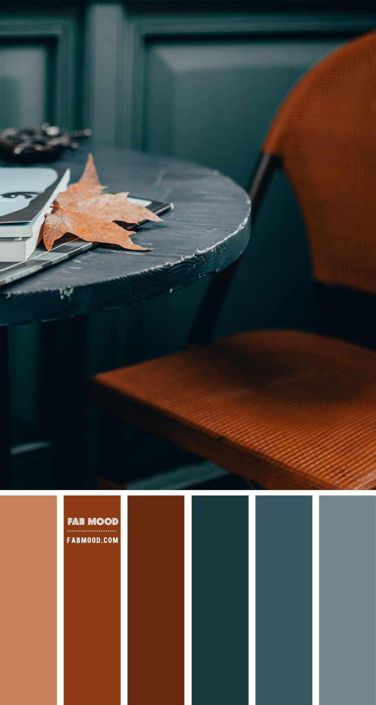 Blue Grey and Brown – #Colour Palette 115