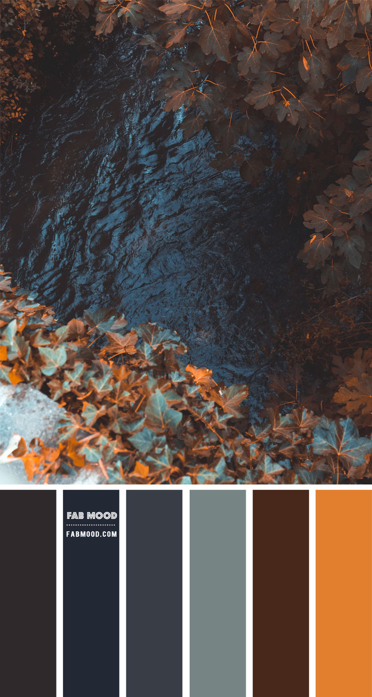 Shades of Blue Autumn Colour Combo – #Colour Palette 118