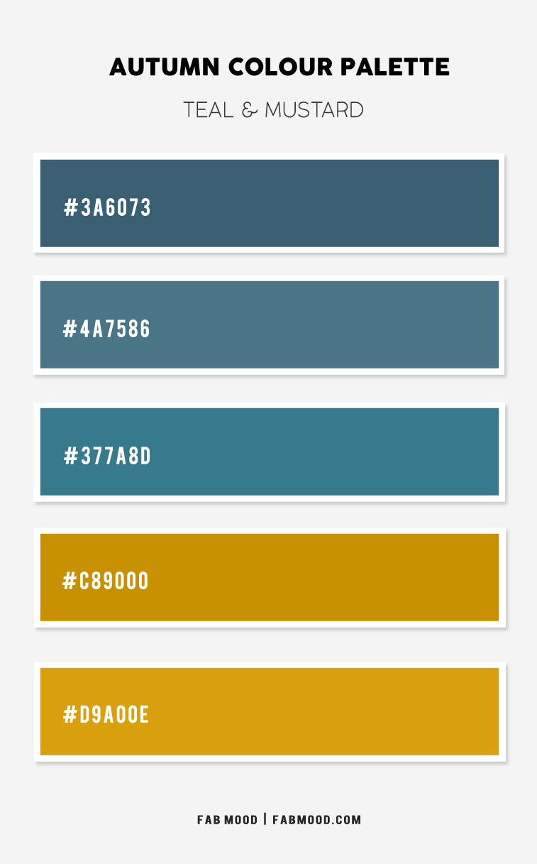 teal and mustard colour palette, teal and mustard color combo, teal and mustard color scheme, autumn colour scheme, autumn colour ideas