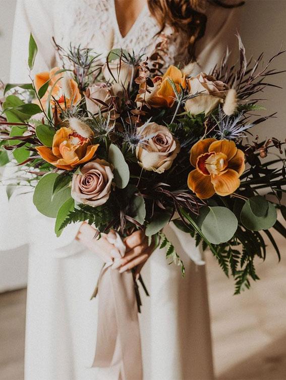 autumn wedding bouquet, wedding bouquet, soft fall bridal bouquet , romantic wedding bouquet