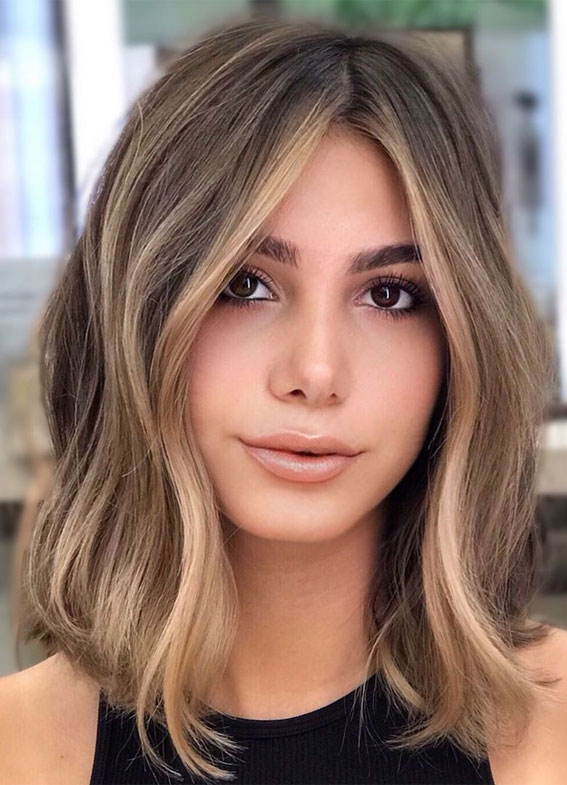 lob hairstyles 2020, lob haircut with layers, lob haircut 2020, wavy lob hairstyles, long bob hairstyle, bob hairstyle, lob haircut with bangs, long lob haircut, lob haircut with side part