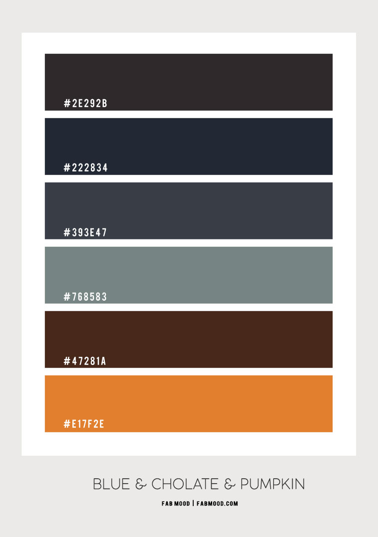 dark blue and pumpkin, color hex, shades of autumn colour palette, colour of autumn , autumn color inspiration, autumn aesthetic, autumn colour combo