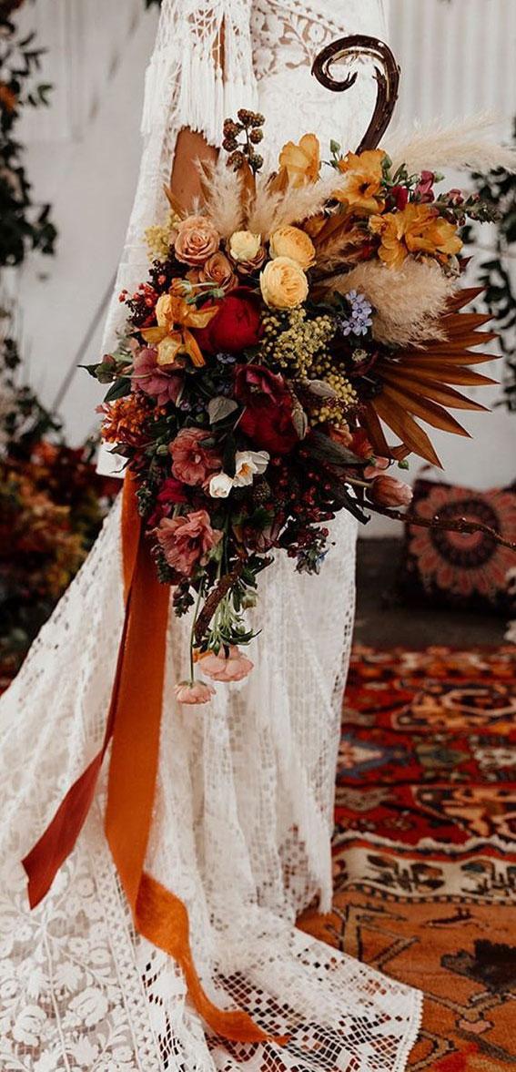fall bridal bouquet, autumn bouquet,