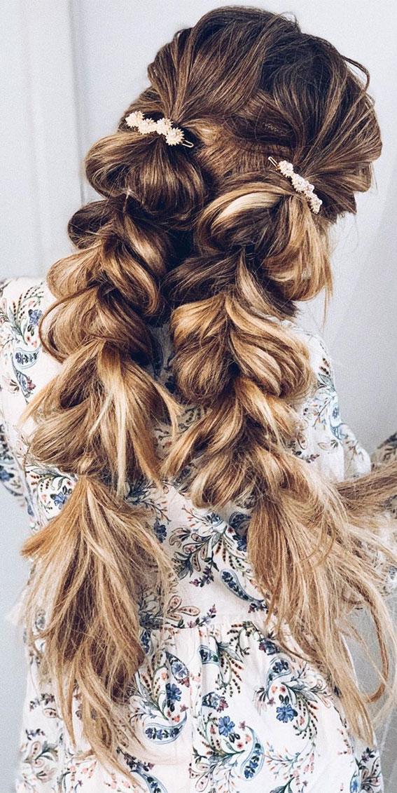 pull through double braid, braid, double braids