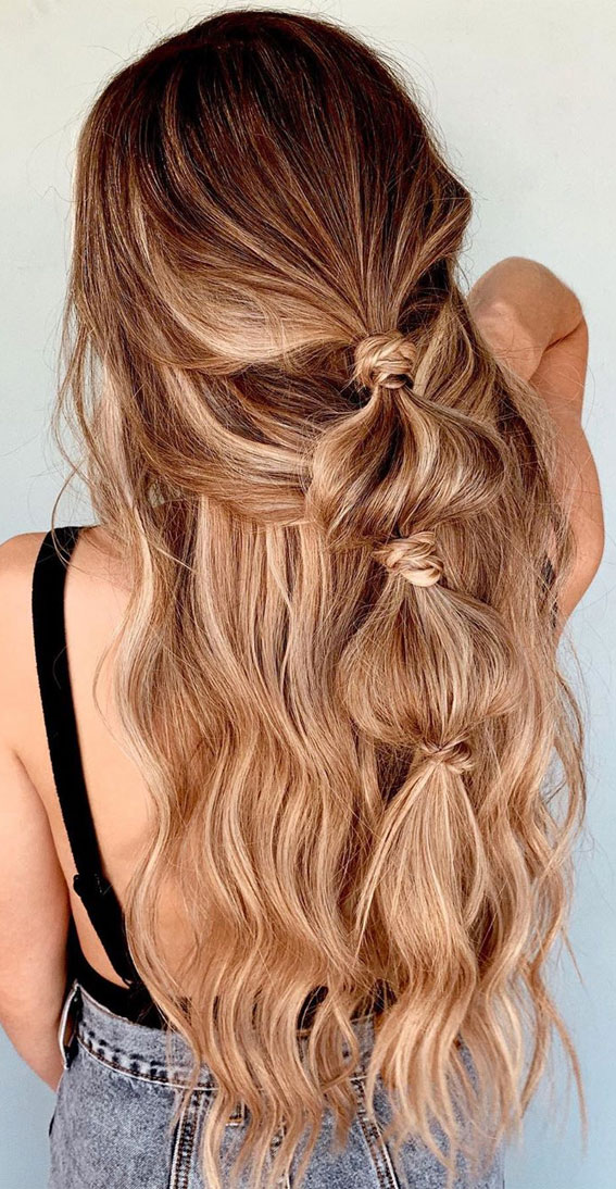 bubble braid, summer hairstyle, braid hairstyles
