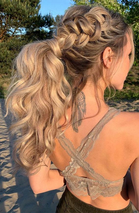 ponytail braid, ponytail hairstyle