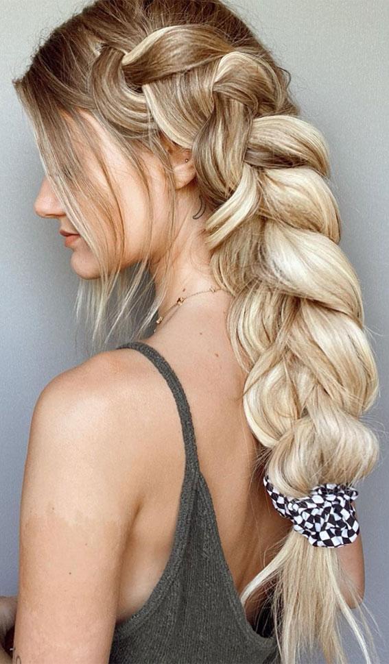 chunky braids, braided hairstyle, best braid hairstyles 2020