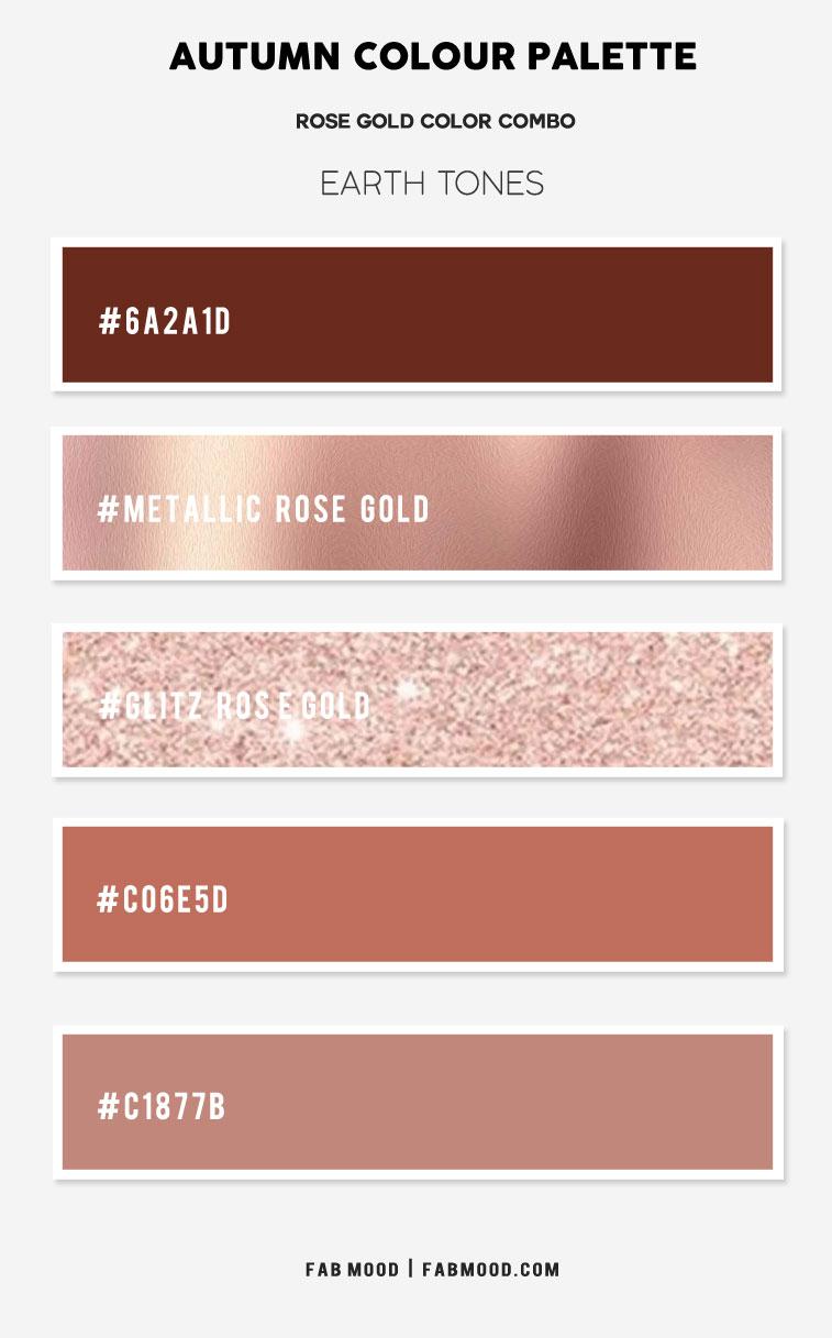 metallic rose gold color, rose gold color combination, rose gold color combo, color that compliment rose gold