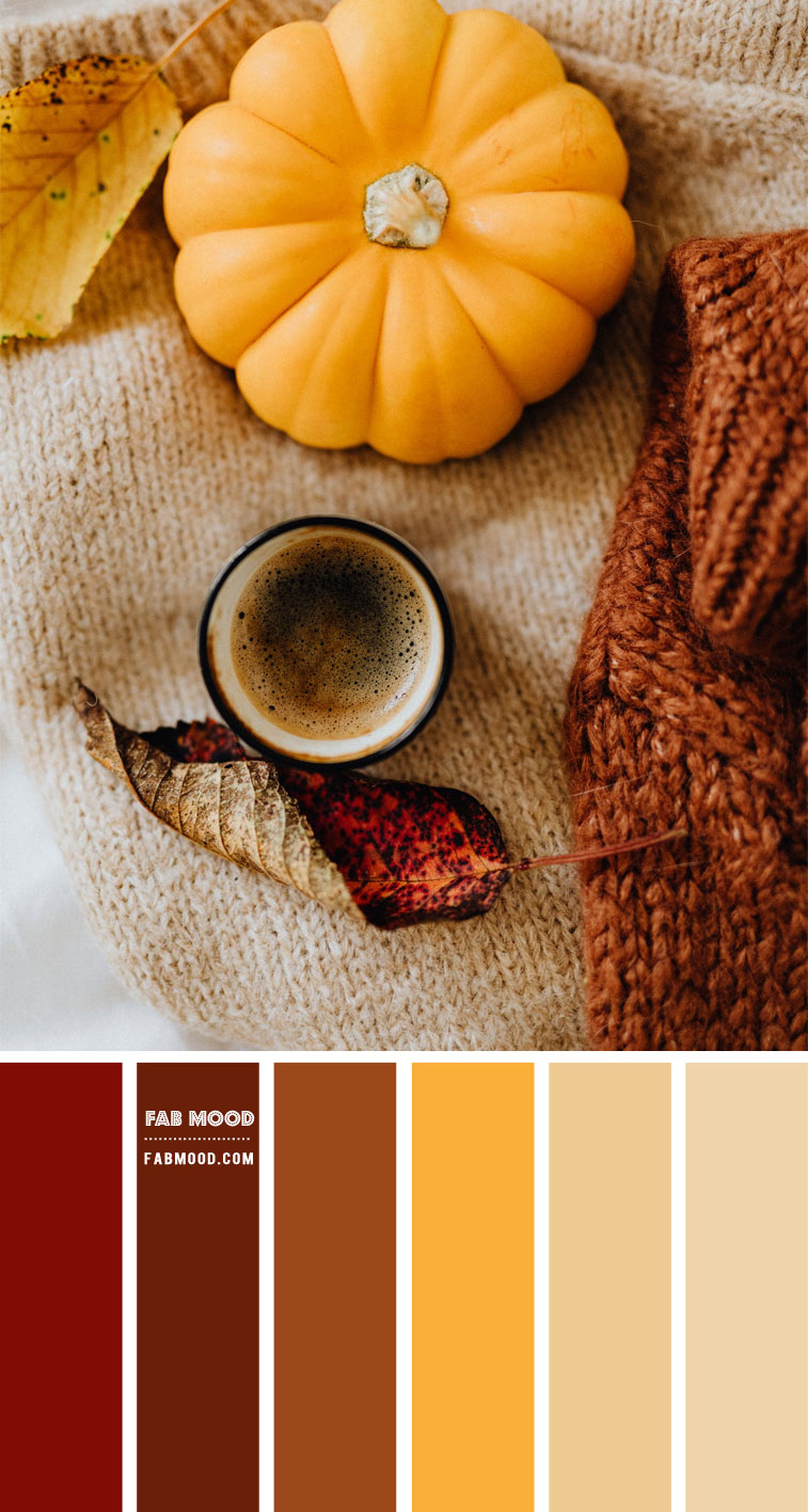 Brown and Mustard Color Combo – #Colour Palette 123