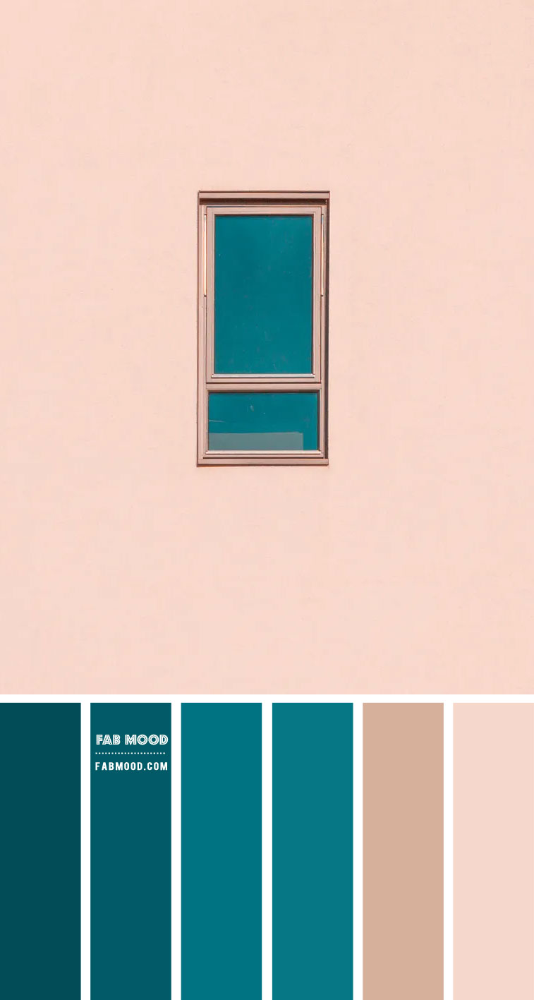Blush and Deep Green Ocean Color Combo – #Colour Palette 125