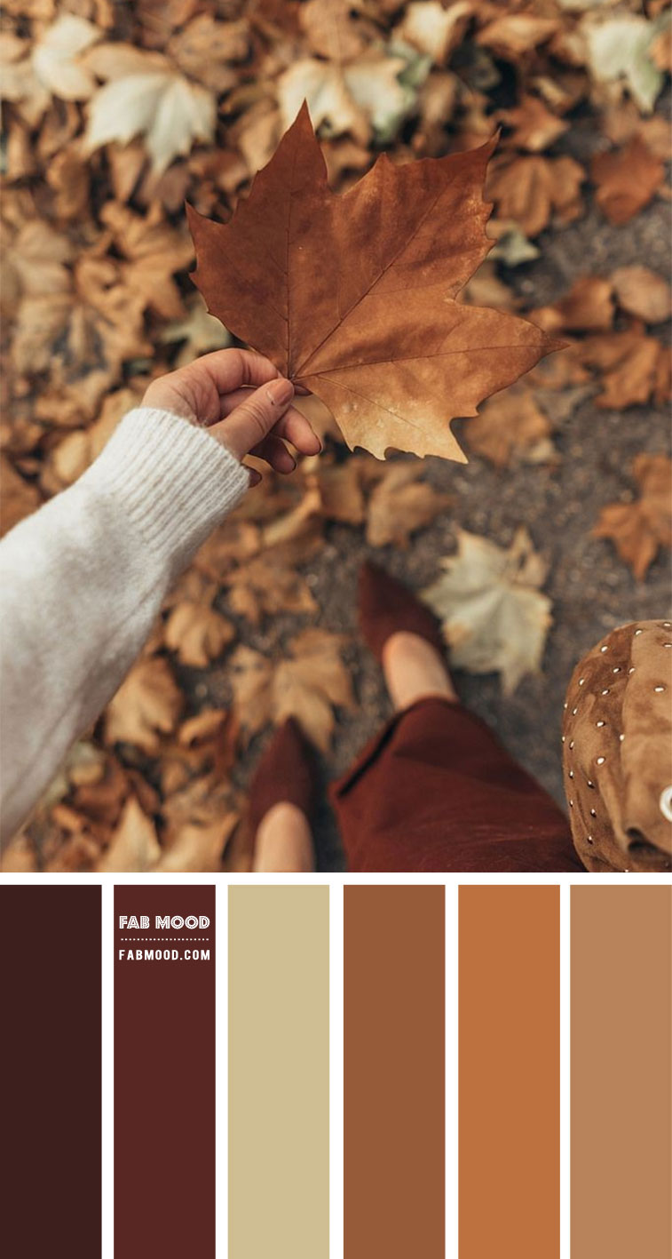 Shades of fall leaf color combo  – #Colour Palette 122