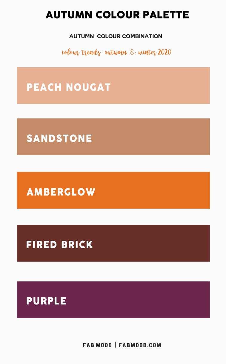 Neutral, Amberglow and Purple Colour Palette