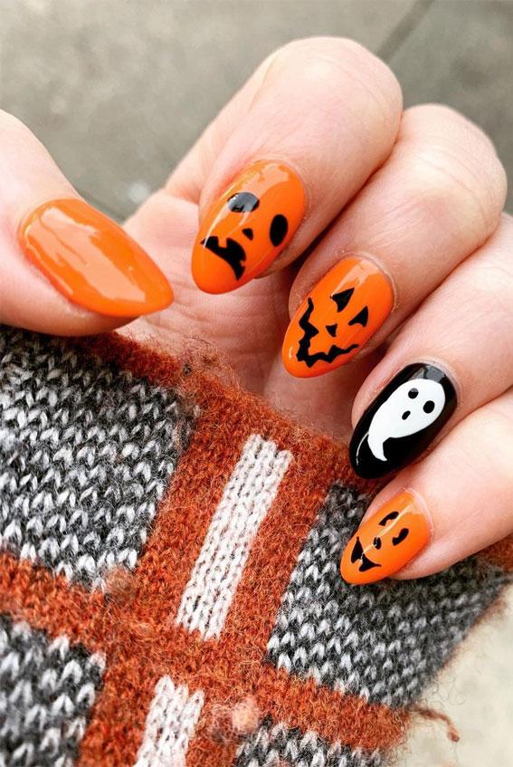 halloween nails, halloween nail art, halloween nail designs 2020