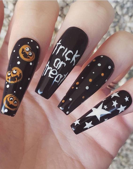 brown nails, brown halloween nails, halloween nails, halloween nail art, halloween nail designs 2020