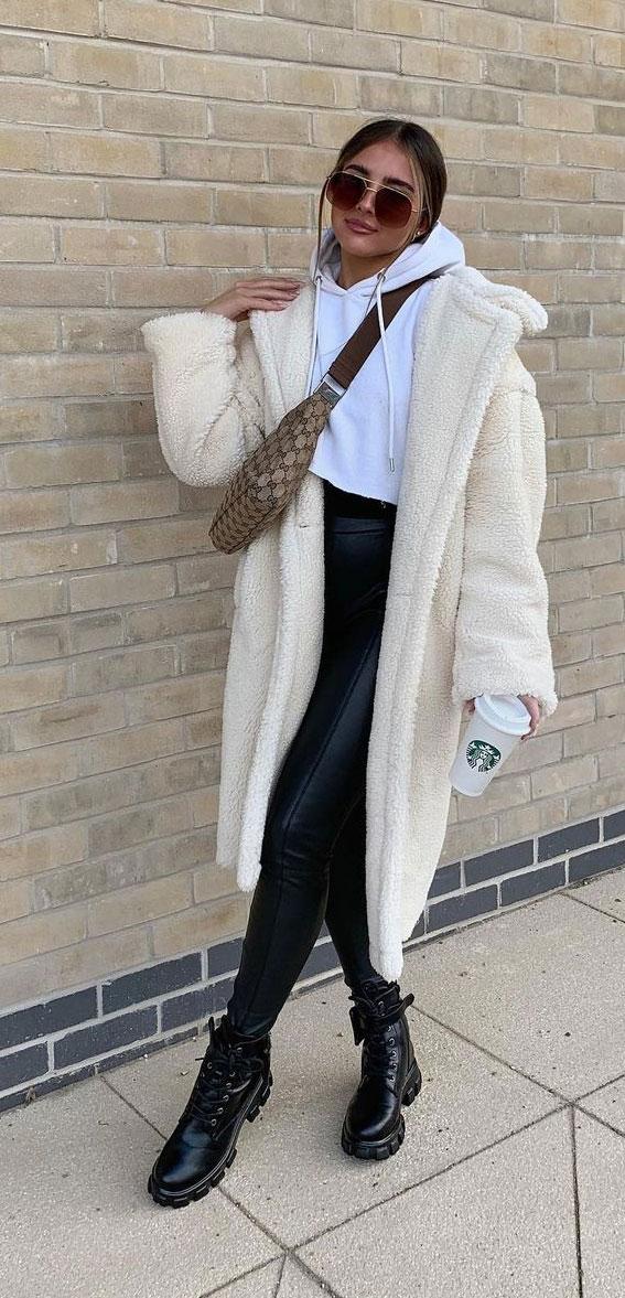 white teddy coat, teddy bear coats, teddy bear jackets, teddy jacket outfits