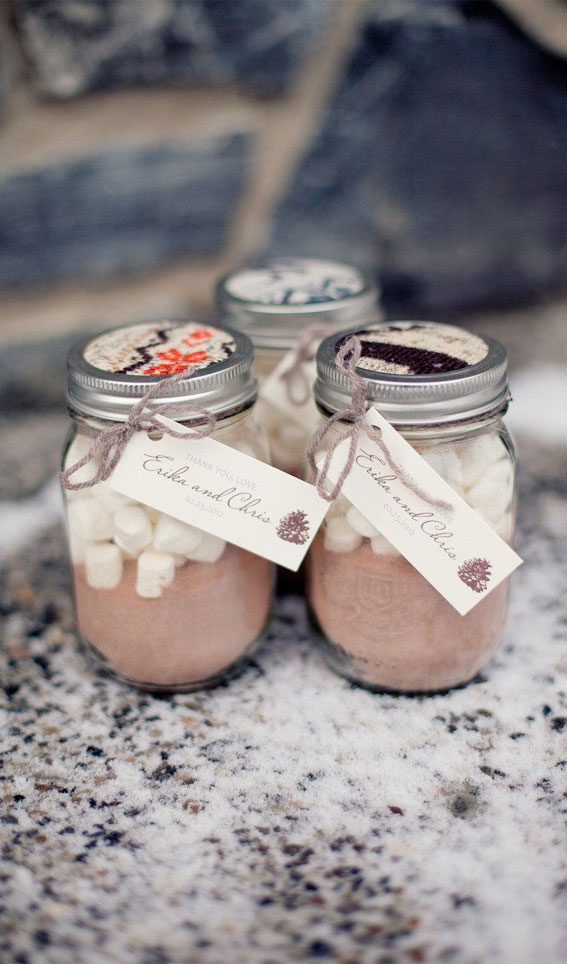 mason jar hot chocolate favors