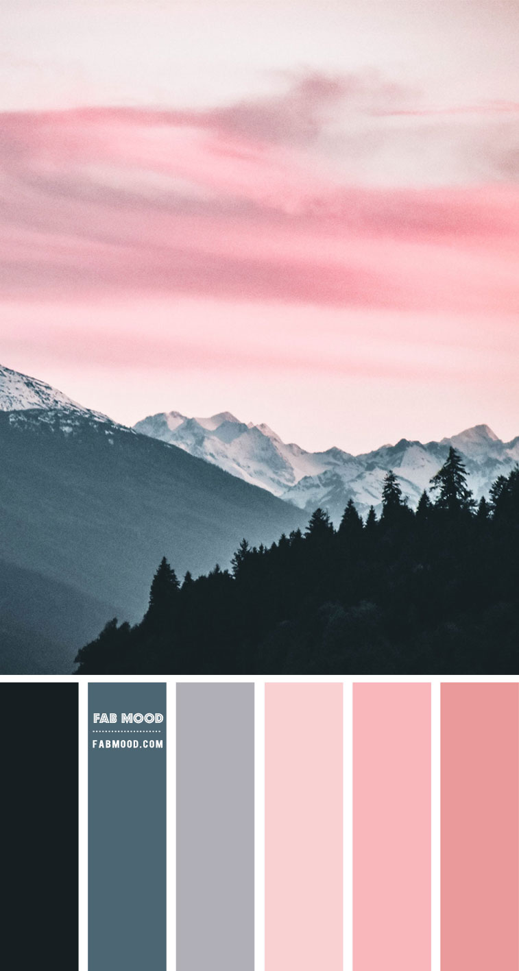 Pink Winter Sky Inspired Colour Palette – #Colour Palette 128