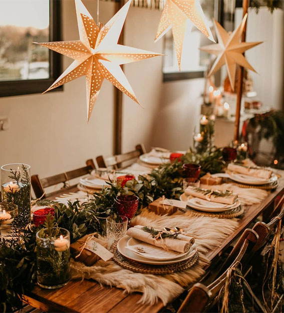 12 Pretty Christmas Table Decoration Ideas