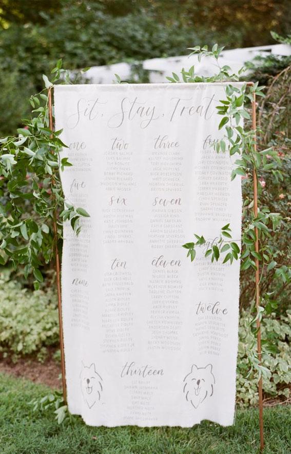 wedding escort cards, wedding seating chart, wedding table seating chart