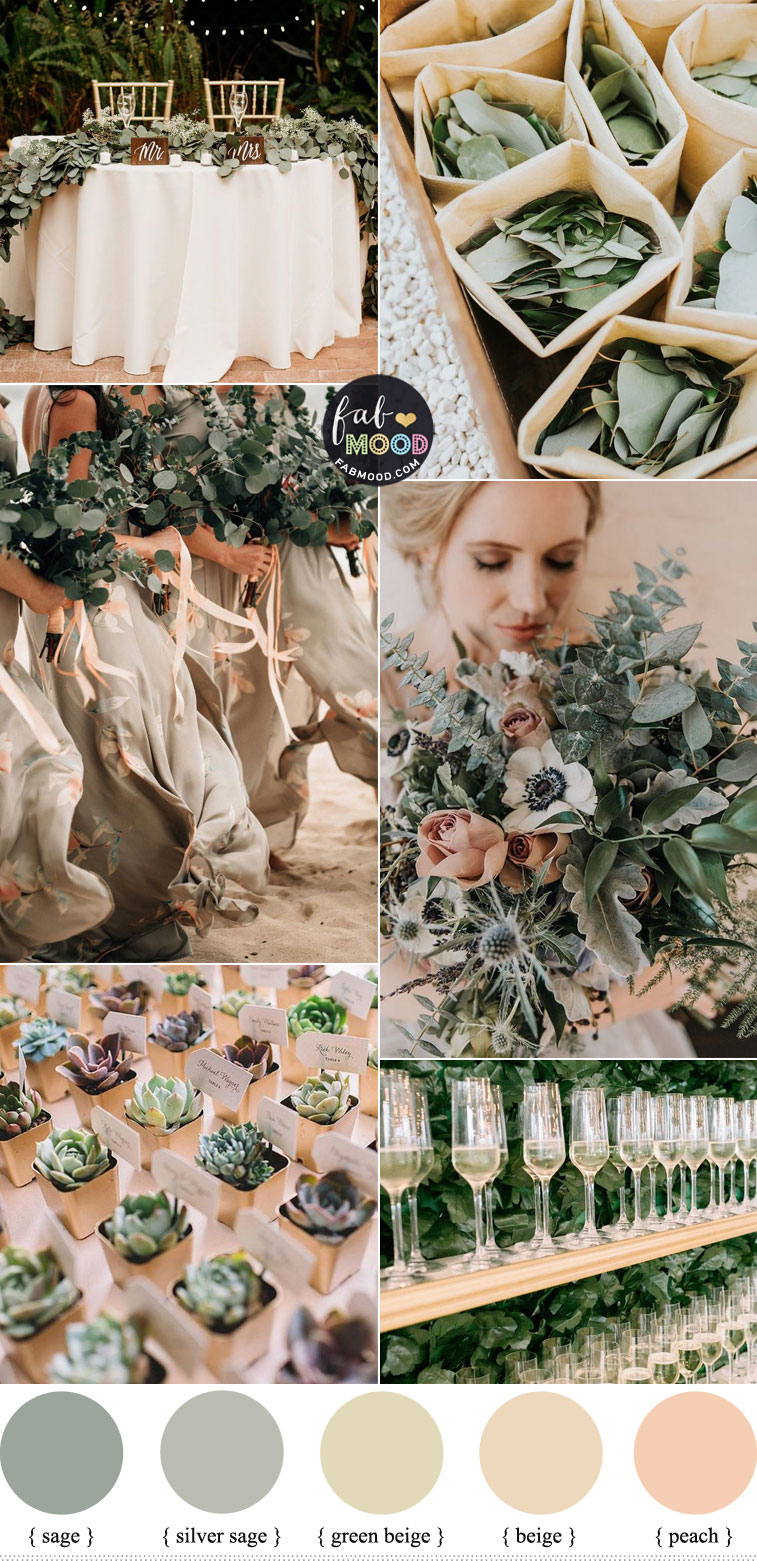 Beige and Sage Wedding Color Palette { Wedding Color Trends 2021 }