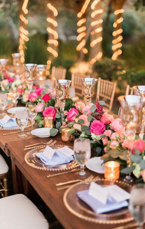 wedding table ideas, pink wedding ideas, pink wedding reception