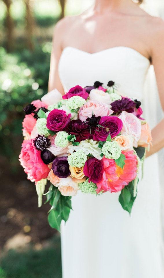 pink wedding bouquet, bridal bouquet