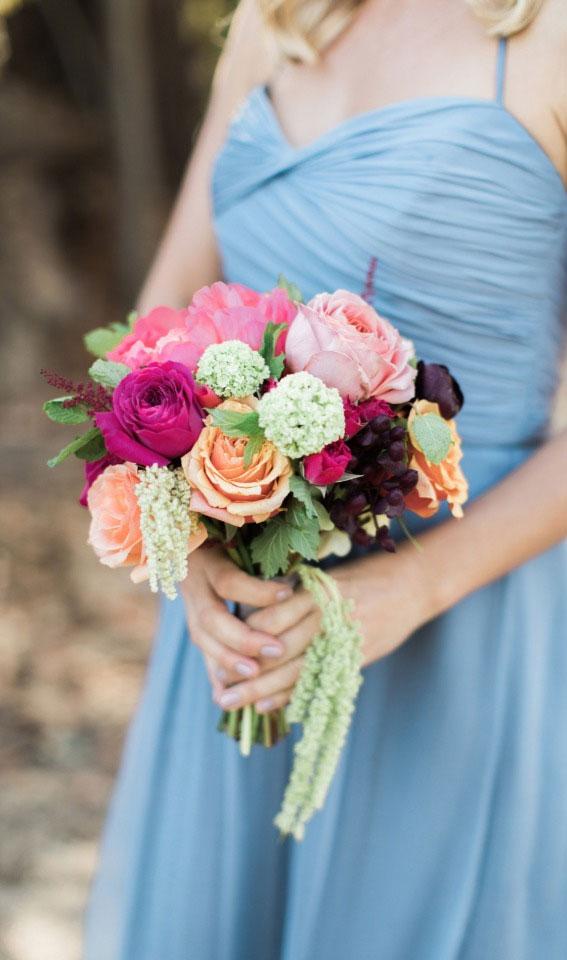 pink wedding bouquet, bridesmaid bouquet