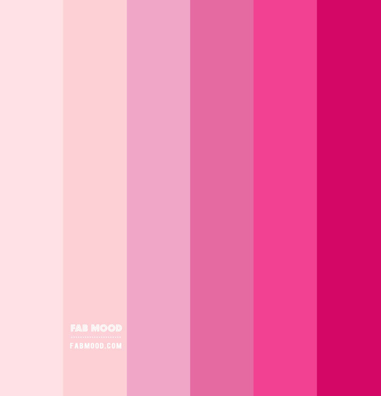 shades of pink, different shades of pink, pink colors