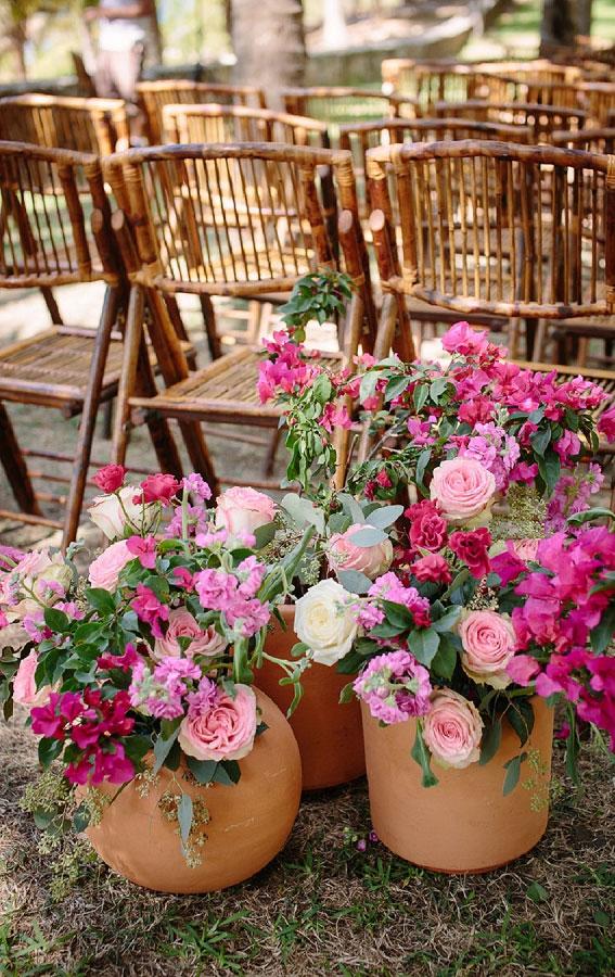 pink wedding ideas, pink wedding decor, pink wedding ceremony decor ideas