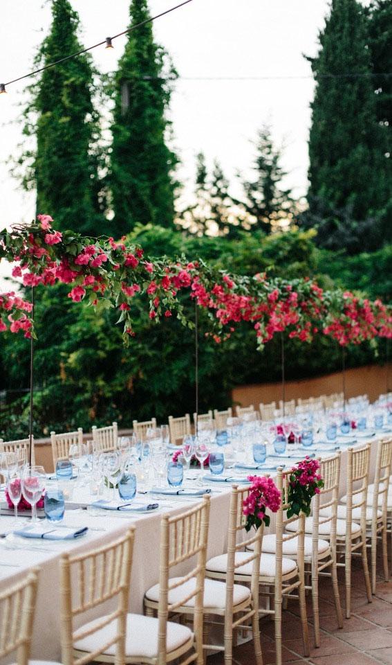 tall wedding centerpieces, wedding table ideas, pink wedding ideas, pink wedding reception