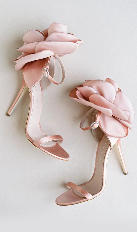 pink peony sandals, high heels, bridal shoes, wedding shoes, pink bridal shoes, pink bridal heels