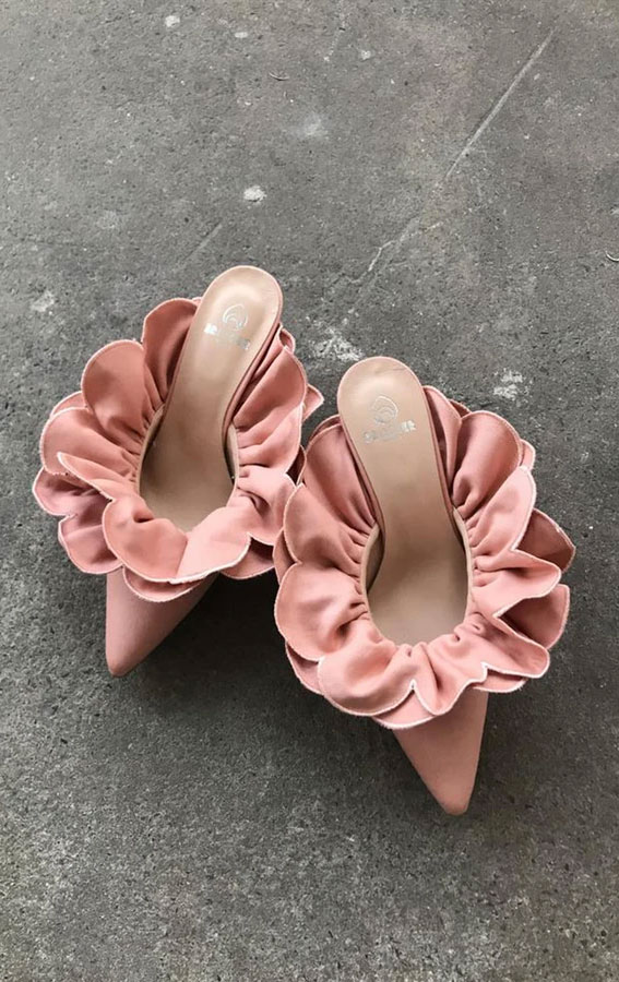 pink shoes, pink sandals, stelle mulle shoes