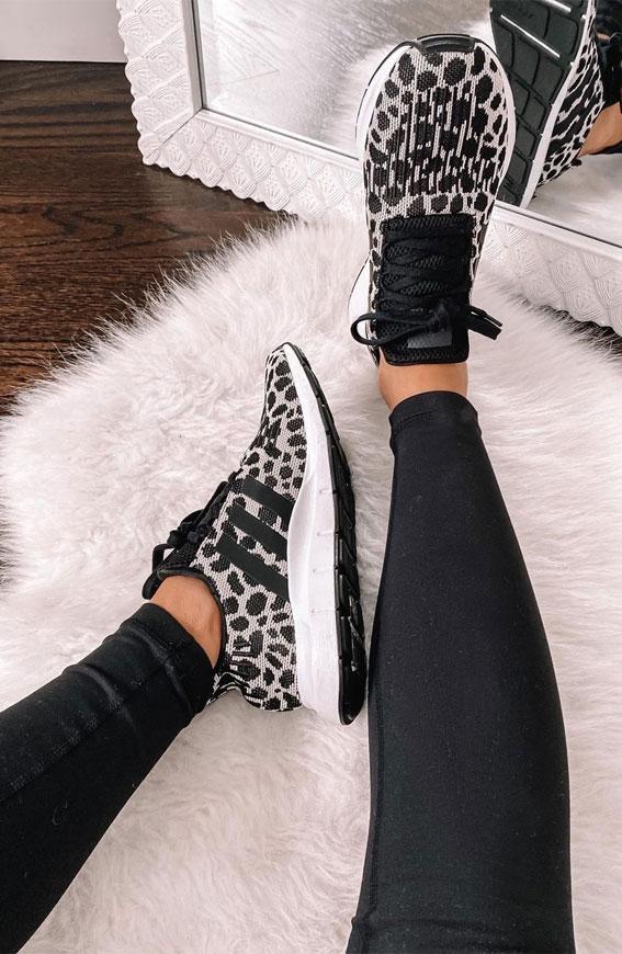 leopard snekaers, sneaker ideas, sneakers outfit ideas for ladies, outfits with sneakers for ladies, sneaker trends 2021, nike sneakers, white sneakers, sneakers for girls, sneakers outfits 2021, sneaker trends 2021, sneaker trends 2020 women's, trainer trends 2021, best sneakers 2021, trending sneakers, sneakers style
