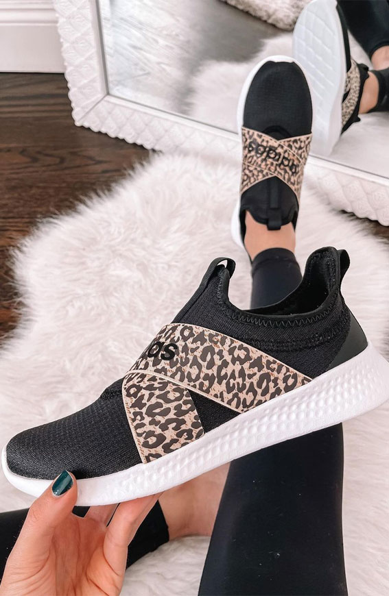black and leopard sneaker, sneaker ideas, sneakers outfit ideas for ladies, outfits with sneakers for ladies, sneaker trends 2021, nike sneakers, white sneakers, sneakers for girls, sneakers outfits 2021, sneaker trends 2021, sneaker trends 2020 women's, trainer trends 2021, best sneakers 2021, trending sneakers, sneakers style