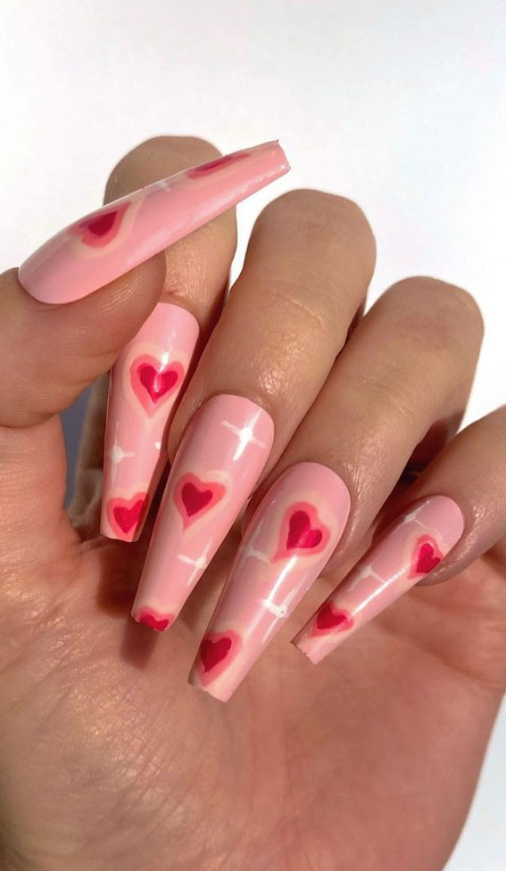 valentine nail stickers, red heart nails, simple heart nail designs , valentine heart nails 2021, valentine nails, valentine nails acrylic, valentine nail art, valentine nail designs, valentine's day nails