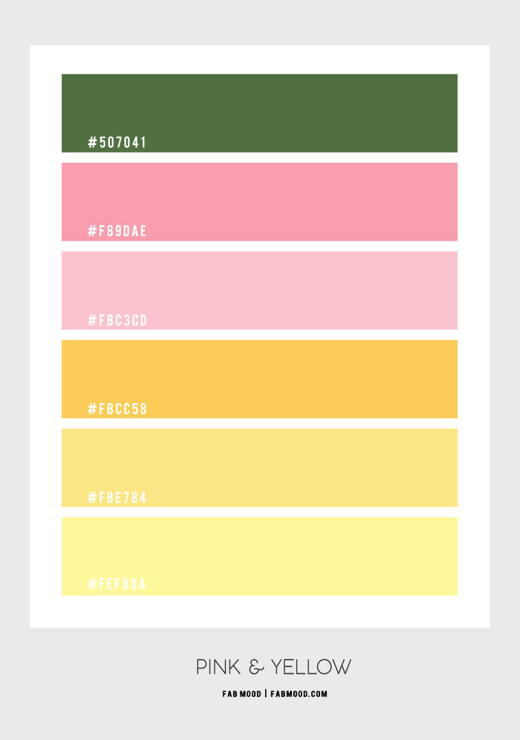 yellow color hex, pink and yellow, yellow and pink color combination, yellow and peach, yellow color combo, what to shade yellow with, color shading, shades of yellow names
