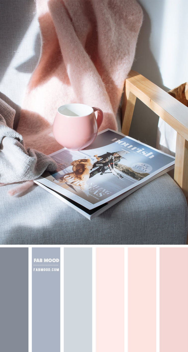 Blue Grey and Pink Colour Scheme – #Colour Palette 131