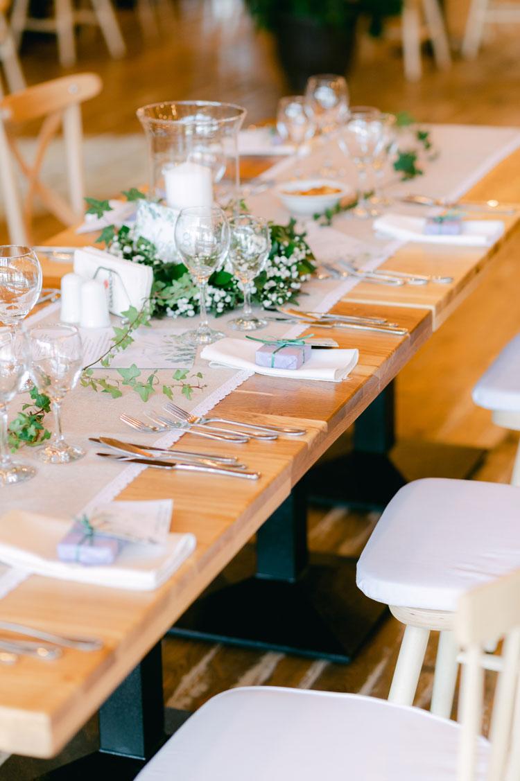baby's breath wedding centerpieces, greenery and baby's breath centerpieces, intimate chic wedding