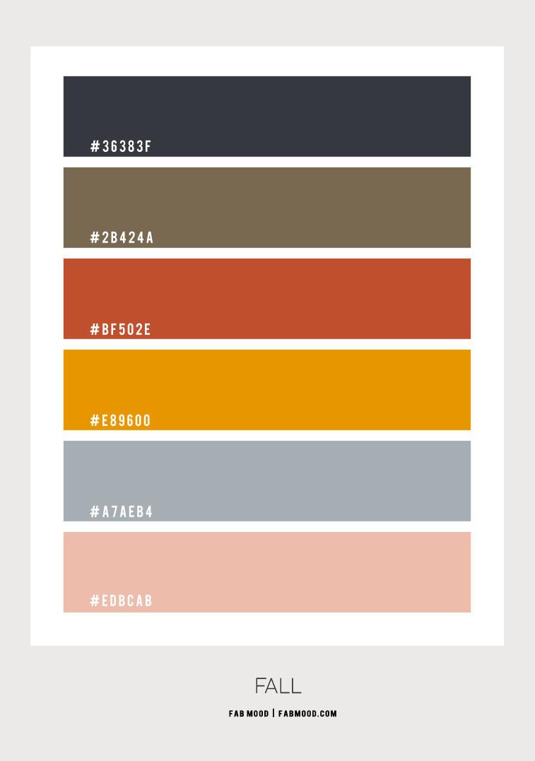 autumn color hex, fall color hex, autumn color scheme, fall color palette, fall color scheme