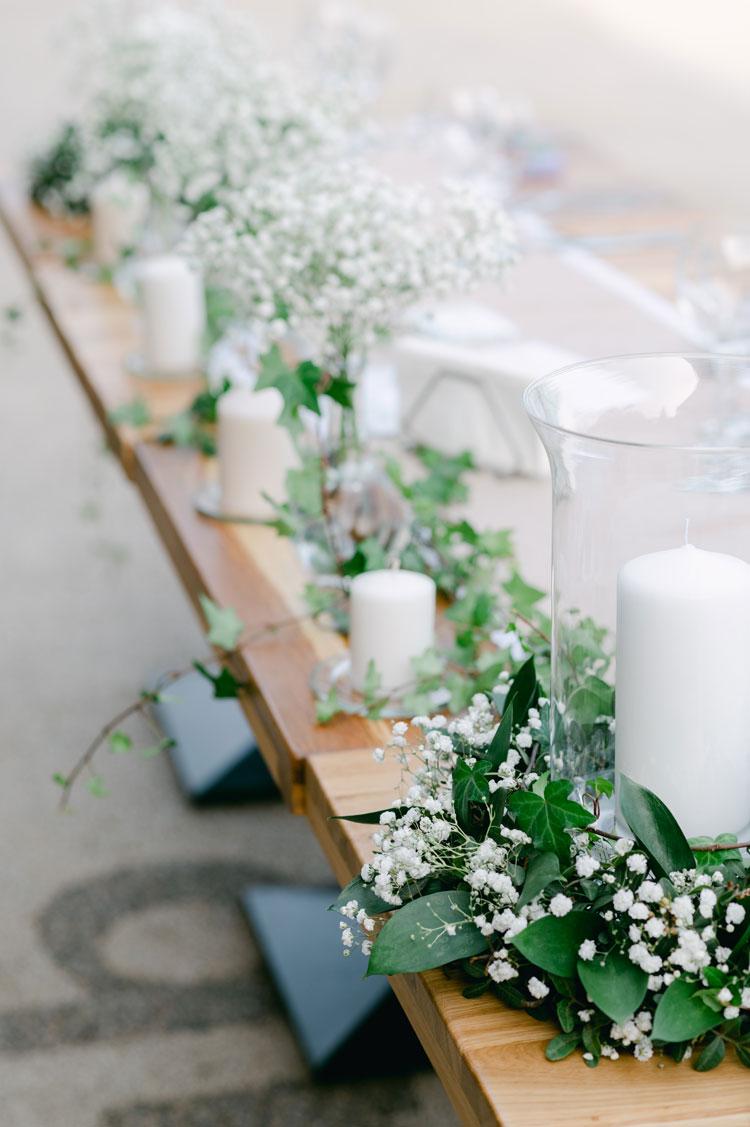baby's breath wedding centerpieces, greenery and baby's breath centerpieces