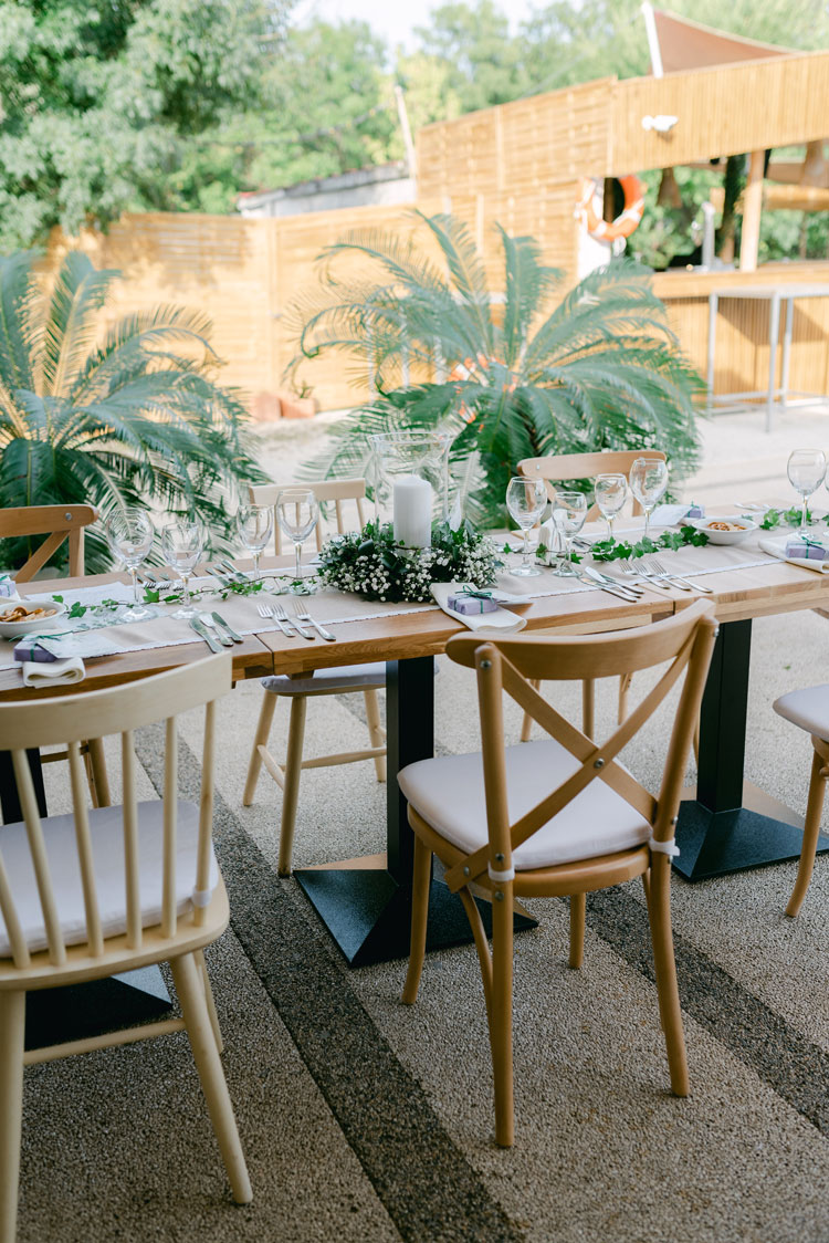 green and white wedding theme, wedding reception decorations, wedding reception by the pool