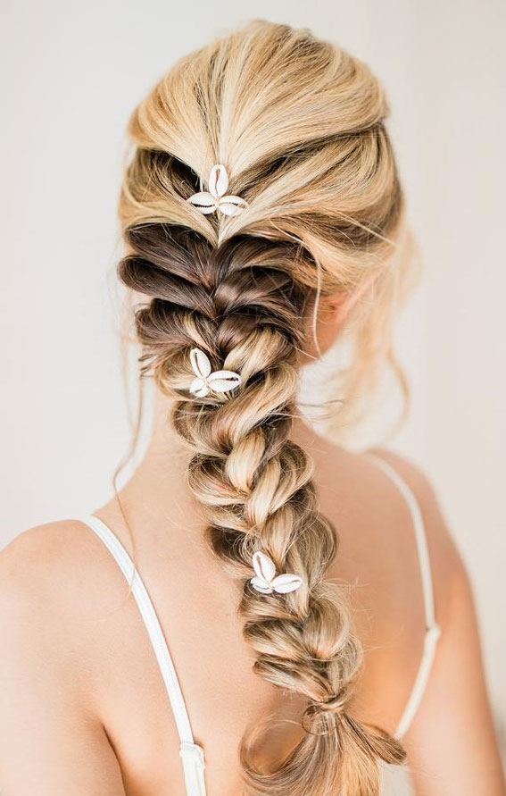 mermaid braid, how to style long hair, hairstyles for long hair